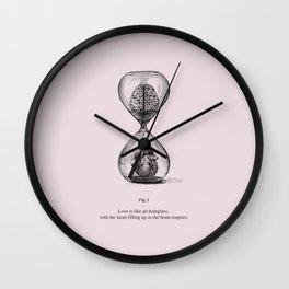 Love is like an hourglass Wall Clock