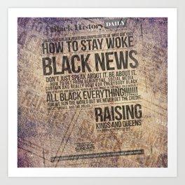 BLACK HISTORY DAILY Art Print