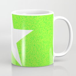 white star on green and yellow abstract background Coffee Mug