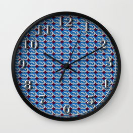 Modius Loop Blue/Gray on Burgundy Wall Clock