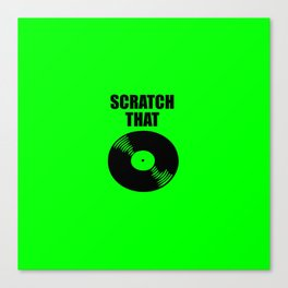 scratch that music logo Canvas Print
