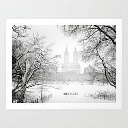 Winter - Central Park - New York City Art Print
