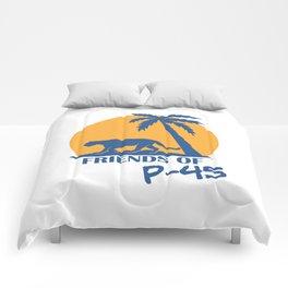 Friends of P-45 Malibu Comforters