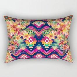 Aztec Floral Rectangular Pillow