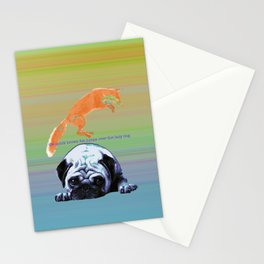 the quick brown fox Stationery Cards