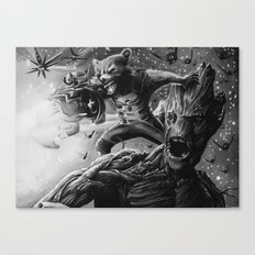 groot and rocket Canvas Print
