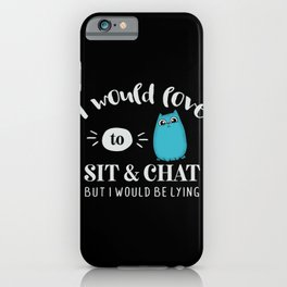Love to Chat Lying Cute Cat iPhone Case