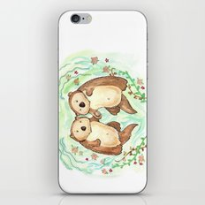 Otters Holding Hands iPhone & iPod Skin