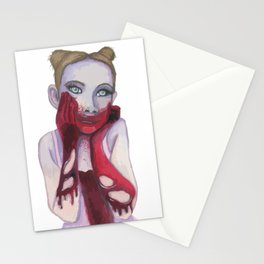 Cute Zombie Girl Stationery Cards