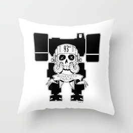 93rd Mechanized Cavalry Logo _Mech Version Throw Pillow
