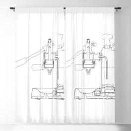 La Pavoni Lever Espresso Machine Blackout Curtain