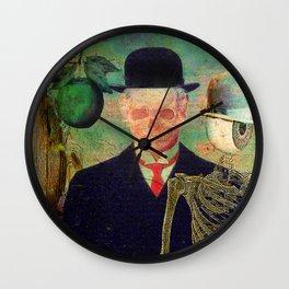 Ceci n'est pas une pomme Monsieur Bone ! Wall Clock