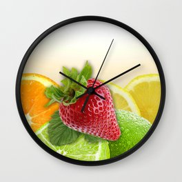 Fruit Collage Wall Clock