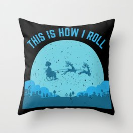 This Is How I Roll Disability Wheelchair Driver Gift design Throw Pillow