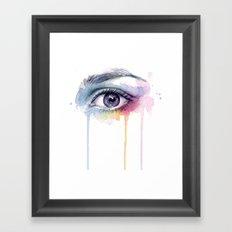 Colorful Eye Dripping Rainbow Framed Art Print