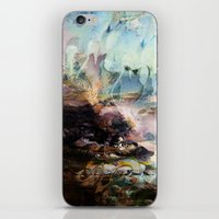 novelty iPhone & iPod Skins featuring Morning Seashore Abstract by Moody Muse