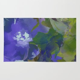 Violet Water Blossoms Rug