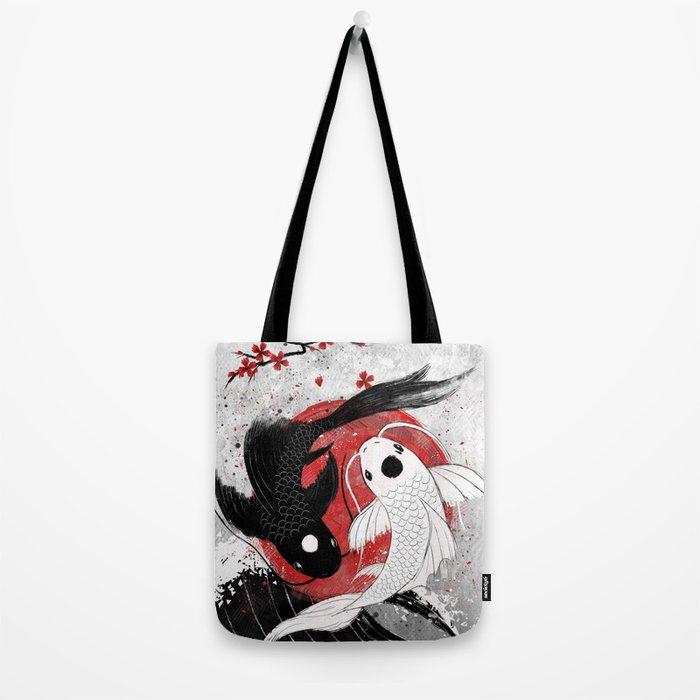 Koi fish - Yin Yang Tote Bag