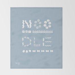 LOVE NOODLES Throw Blanket