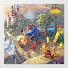 The Beauty and The Beast - All  Canvas Print
