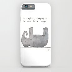 an elephant, sleeping on its back for a change iPhone 6s Slim Case