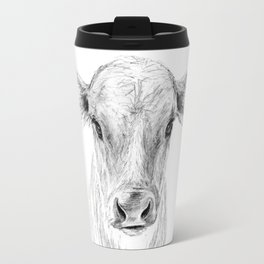 Moo ::  A Young Jersey Cow Travel Mug
