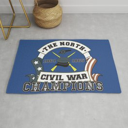 American Civil War Champions - Northern Pride - The Union - Parody Shirt Rug