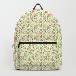 California Rose Pattern Backpack
