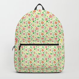 California Rose Pattern Backpack