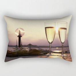 Champagne Date Rectangular Pillow