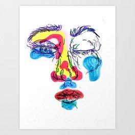 Golpeada por la vida Art Print