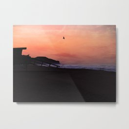 Peach Skies Metal Print