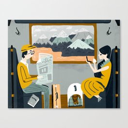 By Train Canvas Print