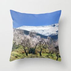 Flowering Almond At The Mountains II Throw Pillow