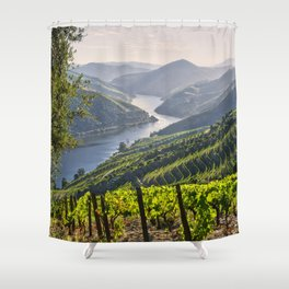 Vineyards along the Douro Valley, Portugal Shower Curtain