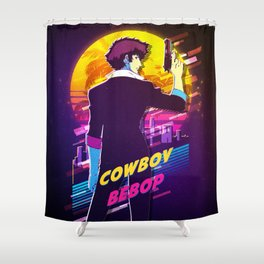 cowboy bebop retro Shower Curtain
