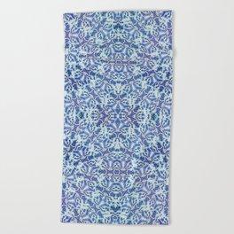Spiral Snowbursts Pattern Beach Towel