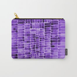 Watercolor abstract rectangles - purple Carry-All Pouch