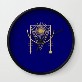 Sacred Geometry Letter M Wall Clock