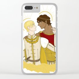 kind laurent and king damianos Clear iPhone Case