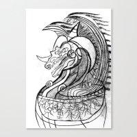 dragon Canvas Prints featuring Dragon. by sonigque