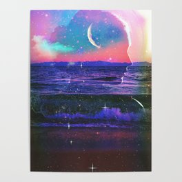 One with the sea and stars Poster