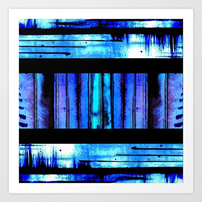 Blue Friends (9) Art Print