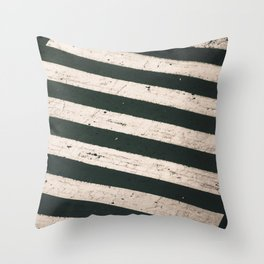 ROAD WORK Throw Pillow