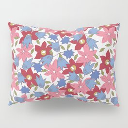 Liberty print in pinks, reds and blues Pillow Sham