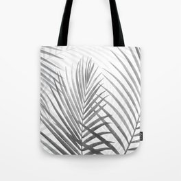 Black and White Tropical Palms Tote Bag