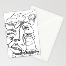 pile ou faces Stationery Cards