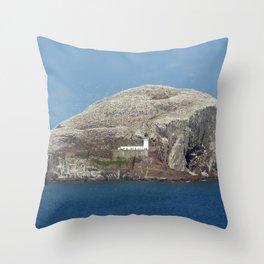 Gannets on Bass Rock, North Berwick, Scotland Throw Pillow