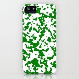 Spots - White and Green iPhone Case