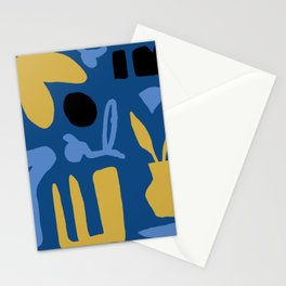Abstract Classic Blue and Gold Stationery Cards